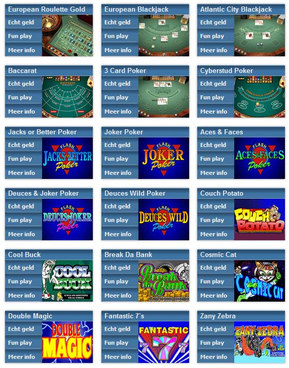 Casino MyJackpot games