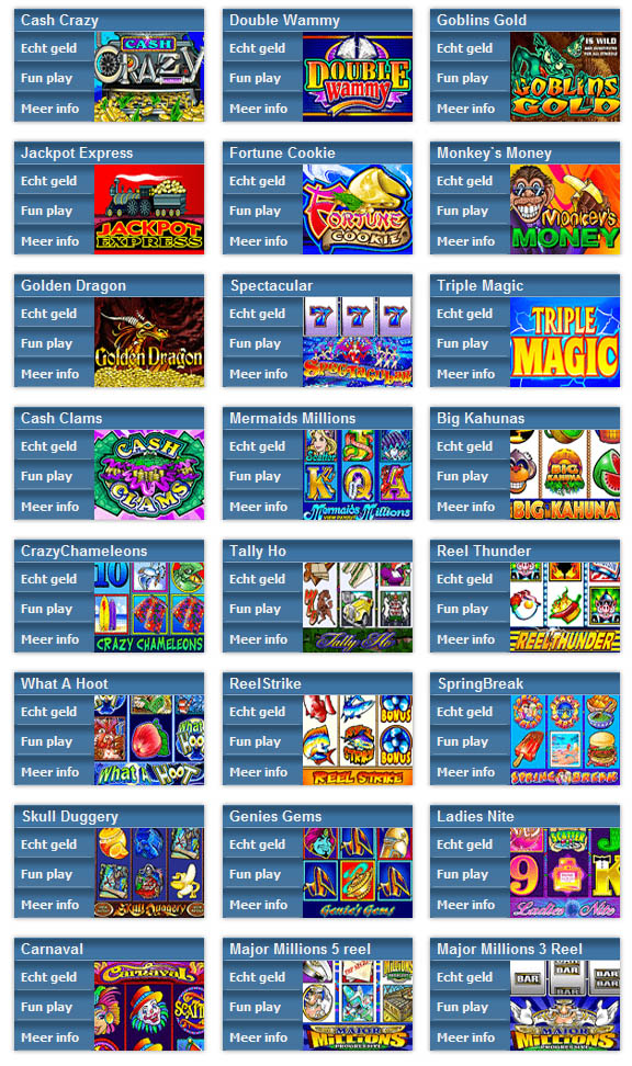 MyJackpot Casino games